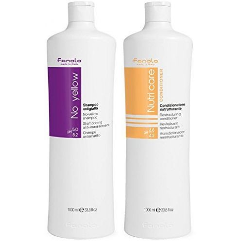 Fanola No Yellow Shampoo + Fanola Nutri Care Conditioner
