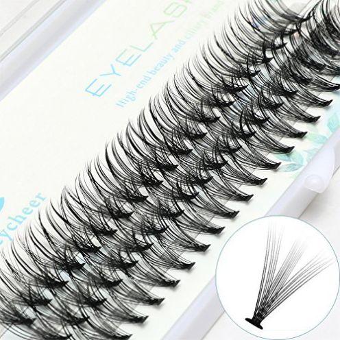 ICYCHEER Makeup Einzelne Cluster-Wimpern