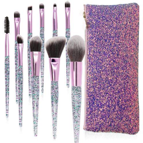 Lapeno Make-up Pinsel Set Diamant-Einhorn Design