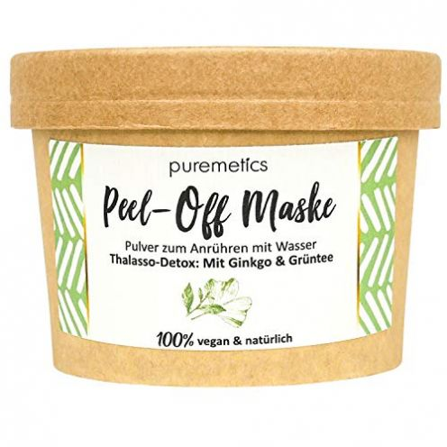 "puremetics Zero Waste Peel-Off Maske""Thalasso Detox - Mit Ginkgo & Grüntee"""