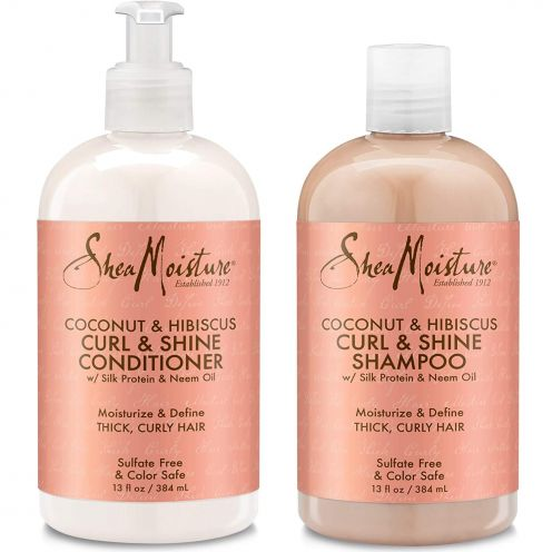 Shea Moisture Coconut & Hibiscus Curl Shampoo & Conditioner