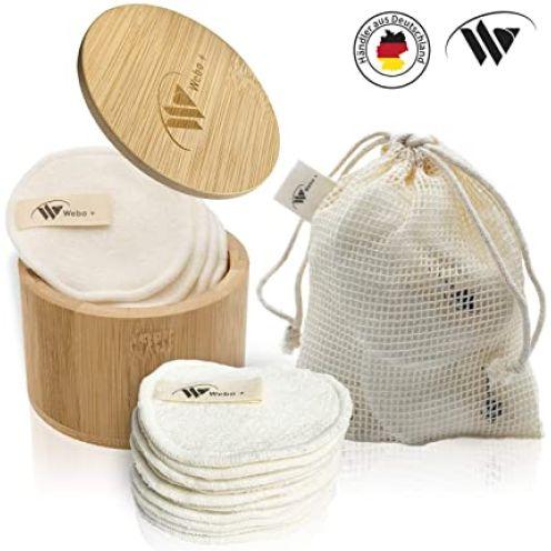 Webo+ 10 Waschbare Abschminkpads
